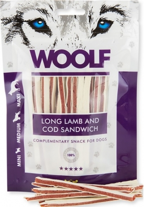 BRIT Woolf Soft Lamb and Cod Sandwich Long 100g